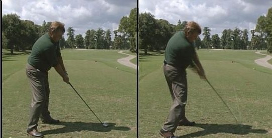 Golf Swing Address/Impact Positions